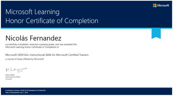 Certificado GEN102x
